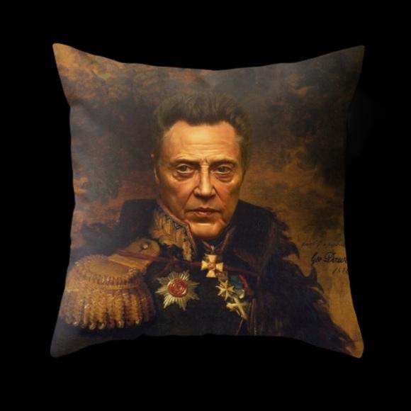 Accents Christopher Walken Classical Portrait Throw Pillow Poshmark